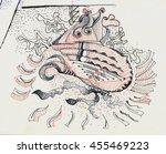 surreal head. sketch | Shutterstock . vector #455469223