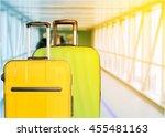 travel bags in airport. | Shutterstock . vector #455481163