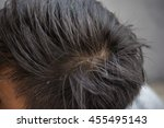 head and grey hair  black and... | Shutterstock . vector #455495143