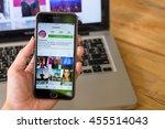 chiang mai  thailand   jul 10... | Shutterstock . vector #455514043