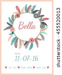 personalized birth announcement ... | Shutterstock .eps vector #455520013