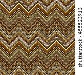 vector african style chevron... | Shutterstock .eps vector #455523913