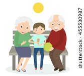 senior people happy leisure... | Shutterstock . vector #455530987