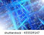 abstract blue fractal... | Shutterstock . vector #455539147