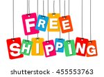 vector colorful hanging... | Shutterstock .eps vector #455553763