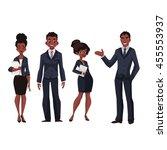 african american businessmen...   Shutterstock .eps vector #455553937