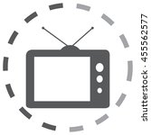 tv vector icon | Shutterstock .eps vector #455562577