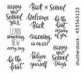 happy back to school positive... | Shutterstock .eps vector #455563123