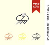 thunder and rain icon. weather... | Shutterstock .eps vector #455571673