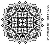 mandala for painting. vector... | Shutterstock .eps vector #455571703