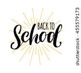vector vintage back to school... | Shutterstock .eps vector #455579173
