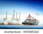 logistics and transportation of ... | Shutterstock . vector #455585263