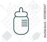 baby milk bottle flat icon