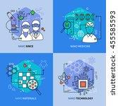 nanotechnology linear... | Shutterstock .eps vector #455585593