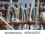 Small photo of ropes aboard a barquentine
