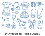 set of personal belongings ... | Shutterstock .eps vector #455620087