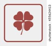 leaf clover sign icon.