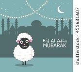 sheep vector illustration.... | Shutterstock .eps vector #455631607