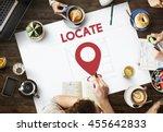 navigation location mapping... | Shutterstock . vector #455642833