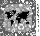 world map vector icon   matte...   Shutterstock .eps vector #455647813