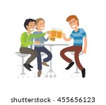 group of male friends enjoying... | Shutterstock .eps vector #455656123