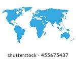 world map blue | Shutterstock .eps vector #455675437