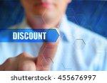 discount title button  discount ... | Shutterstock . vector #455676997