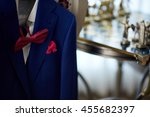 blue suit with tie and... | Shutterstock . vector #455682397