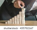 deposit concept  businessman... | Shutterstock . vector #455702167