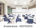 blur classroom education...   Shutterstock . vector #455702293