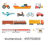 different transport vehicles... | Shutterstock .eps vector #455702833