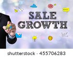 sale growth and businessman... | Shutterstock . vector #455706283