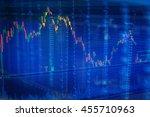 stock market chart business... | Shutterstock . vector #455710963