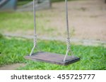 swing in playground | Shutterstock . vector #455725777