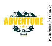 adventure mountain badge logo... | Shutterstock .eps vector #455742817