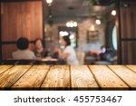 empty wooden table space... | Shutterstock . vector #455753467