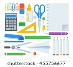 stationery set of elements