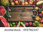 summer fresh fruit variety with ...   Shutterstock . vector #455782147