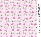 background pink cartoon... | Shutterstock .eps vector #455790223