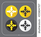 arrows icons. arrows in the...   Shutterstock .eps vector #455804707