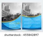 abstract vector modern flyers... | Shutterstock .eps vector #455842897
