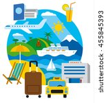 travel and resort concept flat... | Shutterstock .eps vector #455845393
