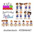 set back to school lettering... | Shutterstock . vector #455846467