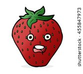 cartoon strawberry | Shutterstock . vector #455847973