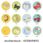 astrological sign. horoscope...   Shutterstock .eps vector #455849893