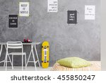cropped shot of a teenager room ... | Shutterstock . vector #455850247