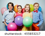 kids at party | Shutterstock . vector #455853217