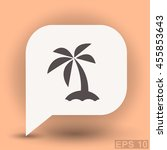 pictograph of island | Shutterstock .eps vector #455853643