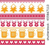 christmas seamless pattern with ... | Shutterstock .eps vector #455867113