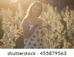 princess. young beautiful...   Shutterstock . vector #455879563